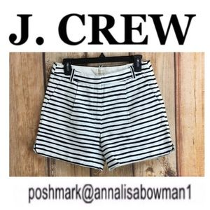 💸J. Crew Factory striped pleated short size 4